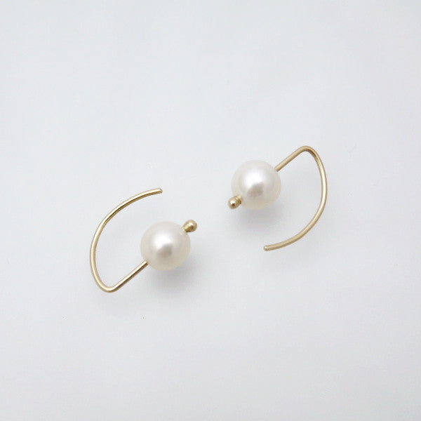 Ear Hook Pearl Earring - LEL JEWELRY  - 1