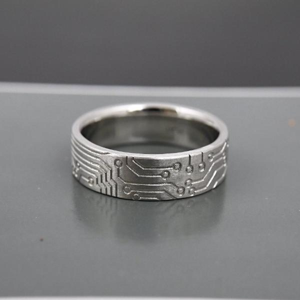 'Circuit Board' Men's Ring - LEL JEWELRY