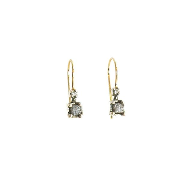 'Raw & Refined' Diamond Earrings - LEL JEWELRY