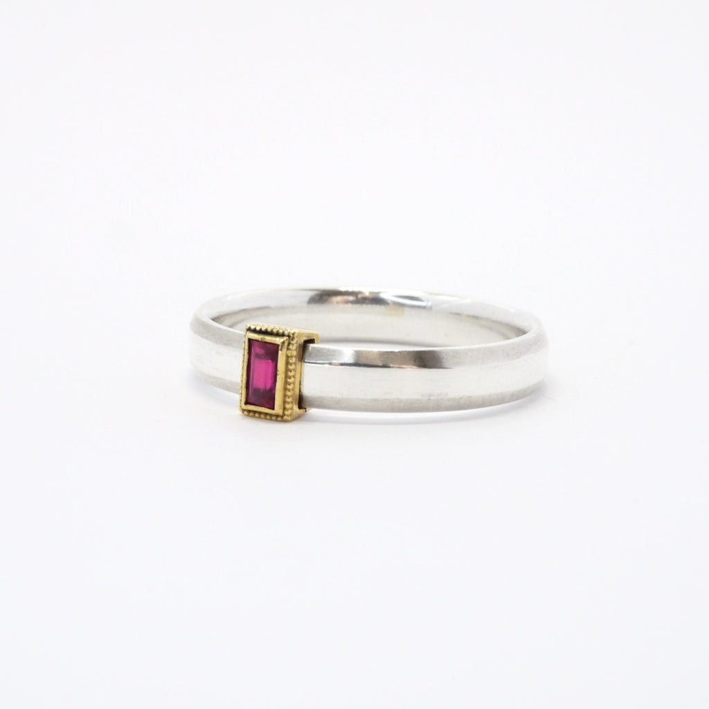 Rev Two Tone Silver and Gold Rolling Ring