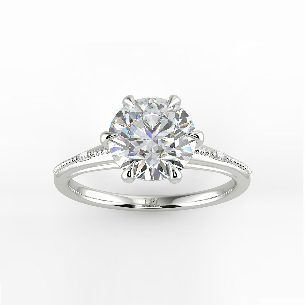 Regency Round Diamond Engagement Ring Setting