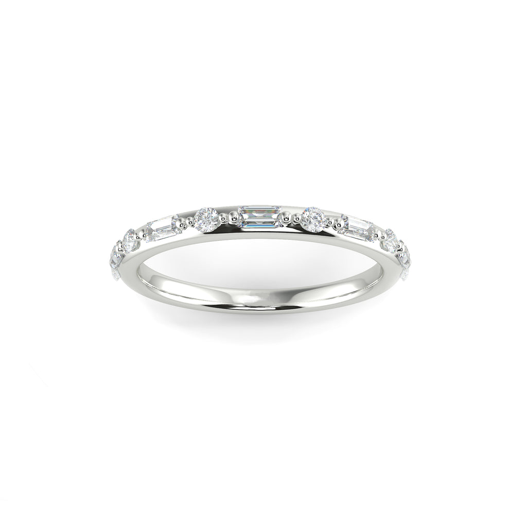 BREE Round and Baguette Diamond Ring