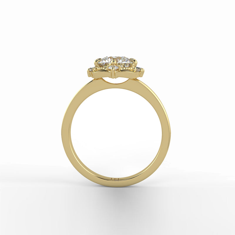 Laurel Baguette Diamond Halo Setting