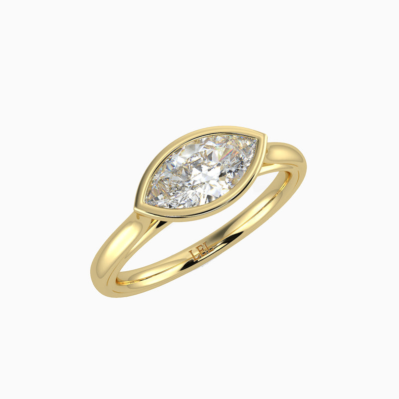 Tempest Marquise Bezel Set Diamond Ring