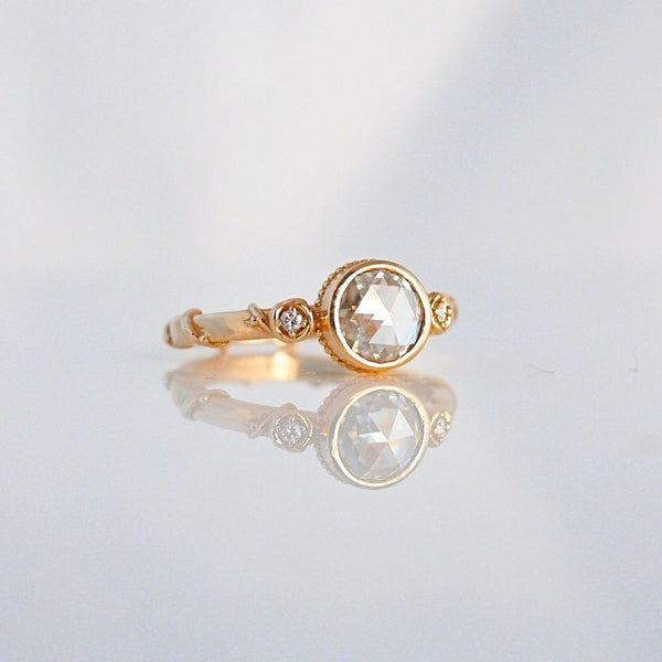 'Rose Vine' Rose Cut Diamond Rose gold Ring