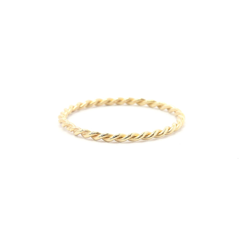 Rope Twisted Thin Gold Band