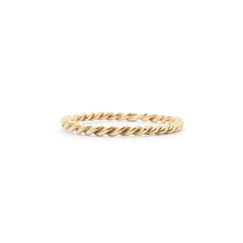 Rope Twisted Gold Ring