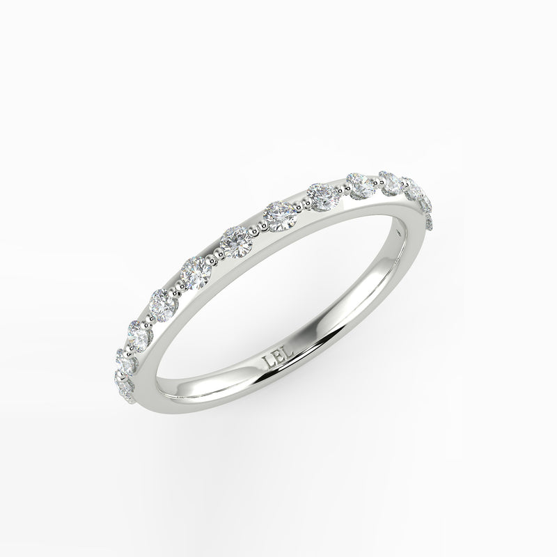 BELLE Round Diamond Shared Beaded Ring