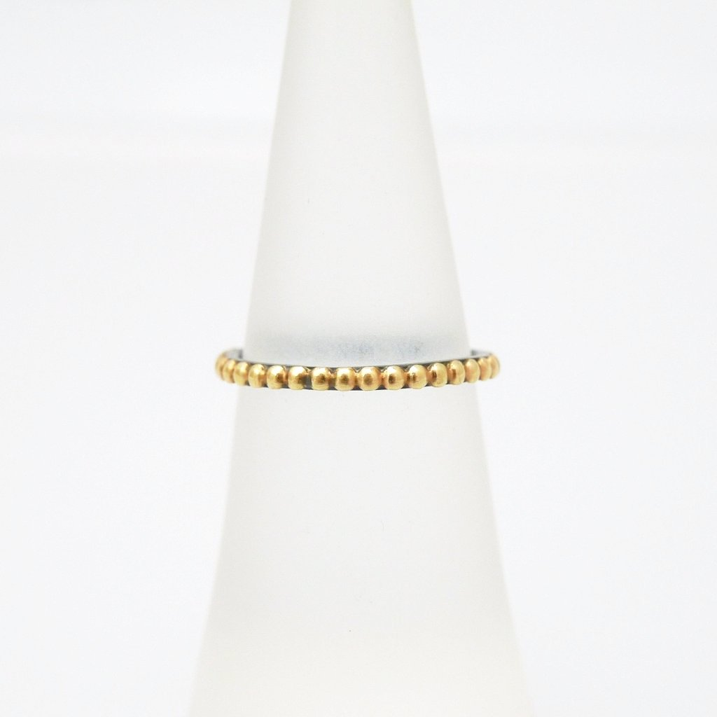 'Golden Beads' Two-tone Ring - LEL JEWELRY