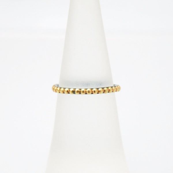 'Golden Beads' Two-tone Ring