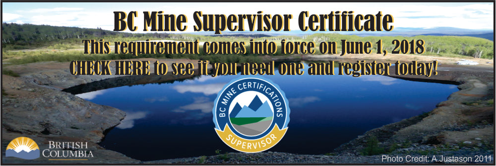 Mine Supervisor Certificate, BC Mine Permit