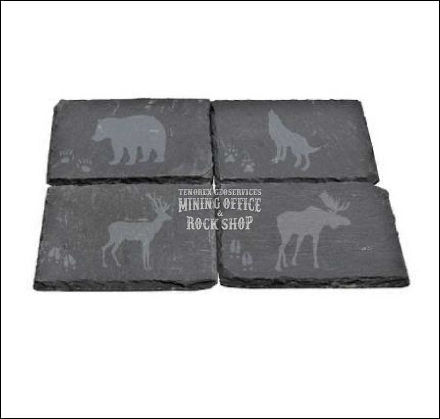 Slate Coasters Laser Etched Animals