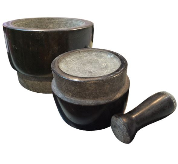 Granite Mortar & Pestle: double sided