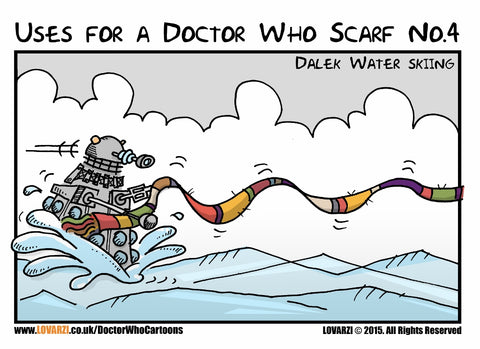 Uses of Tom Baker Scarf (4th Doctor) - Season 12