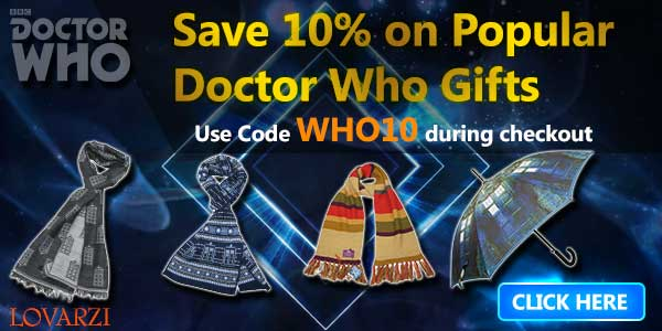 Save 10% on our range of Doctor Who products