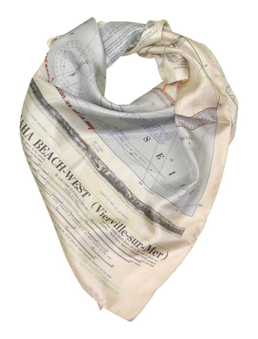 D-Day Omaha Beach Map Scarf