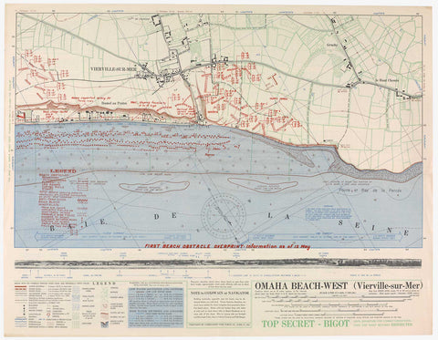 Omaha Beach Map Scarf