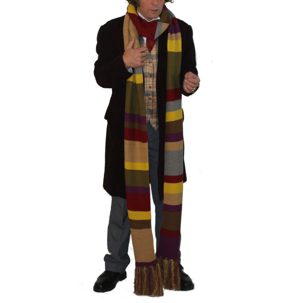 Tom Baker Dr Who Scarf for Men and Women - Official BBC Merchandise