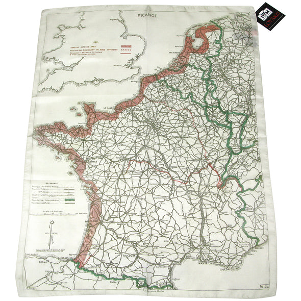 WWII military memorabilia World War for sale europe evasion map scarf