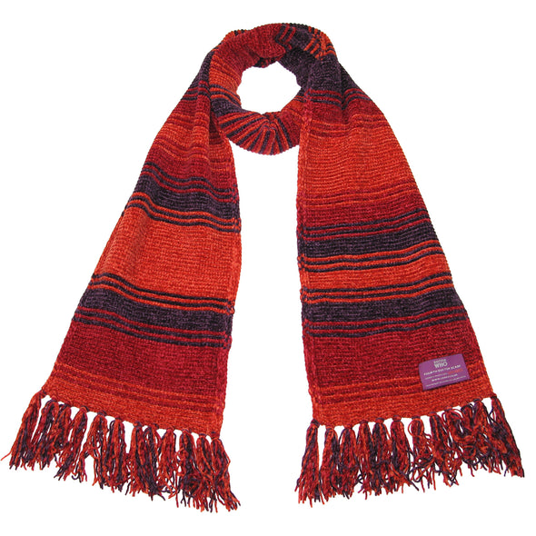 Doctor Who burgundy scarf season 18 short size
