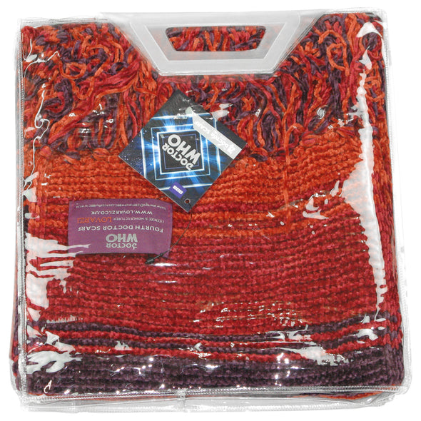 Doctor Who Season 18 Burgundy (Shorter) Scarf - Official BBC Tom Baker Scarf