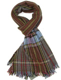 Men's Check Wool Scarf