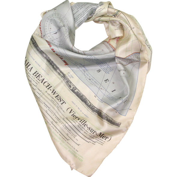 D-Day Map Scarf WWII military memorabilia
