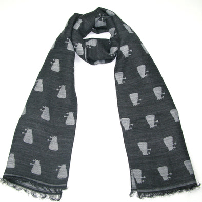 Doctor Who Grey Dalek Scarf Gift for fans Christmas Valentine