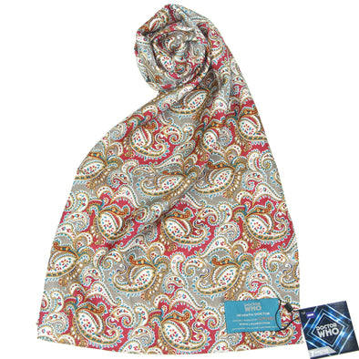 Seventh Doctor Silk Paisley Scarf - 7th Doctor (Sylvester McCoy)
