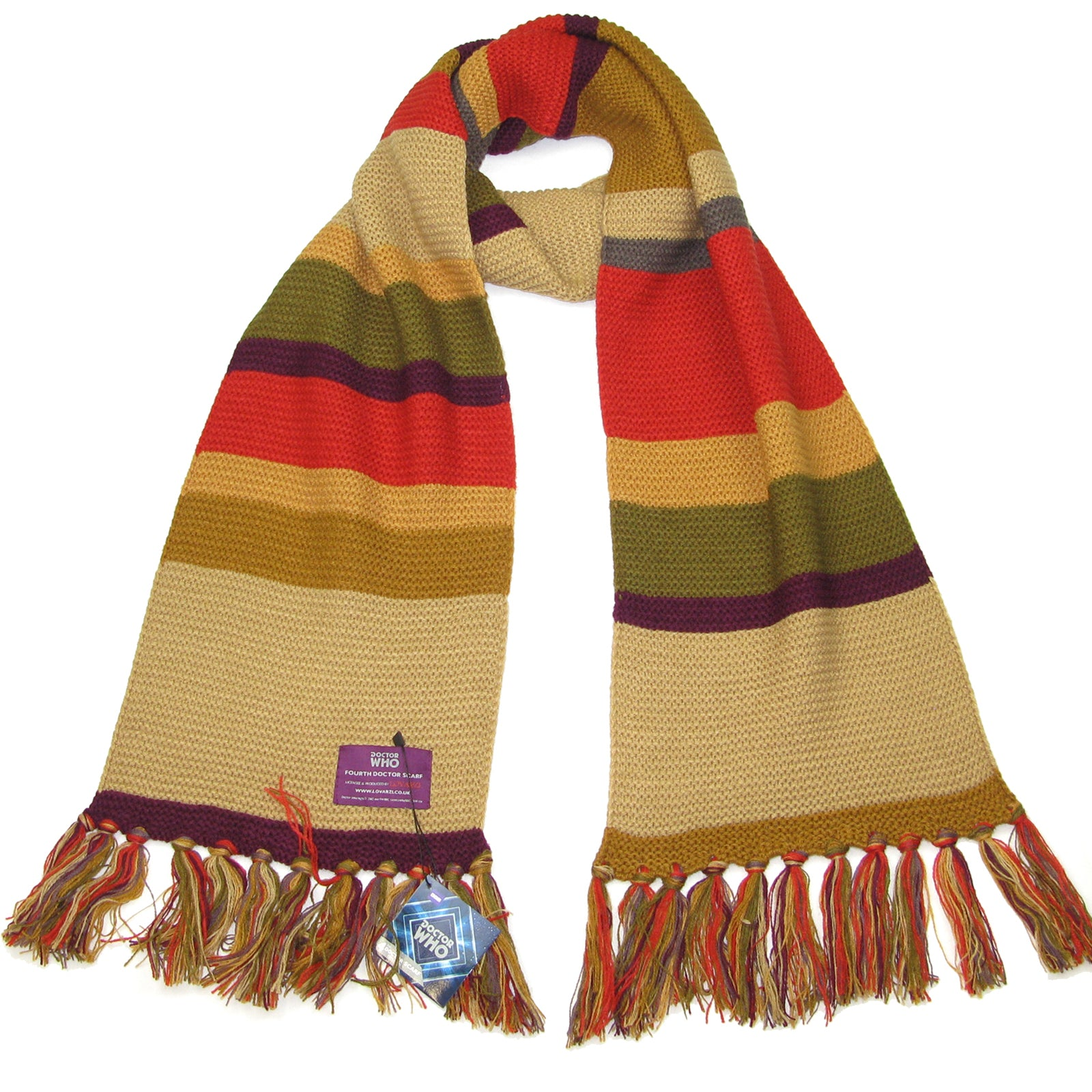df1433183ea Tom Baker 4th Doctor Scarf-Shorter Striped Scarf Dr Who Fourth ...