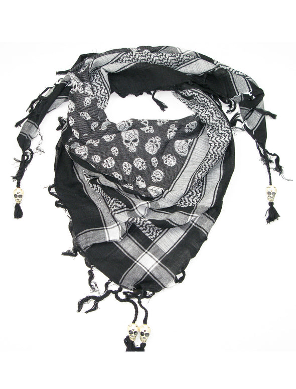 Scarf with Skull Design (With Beads)