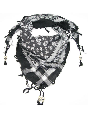 Cotton Skull Square Scarf