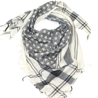 Star Patterned Cotton Square Scarf