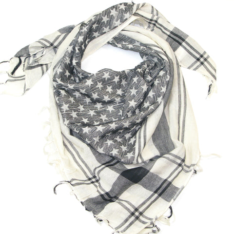 Cotton Star Square Scarf