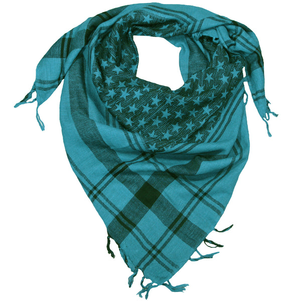 Star Patterned Cotton Square Scarf for Men and Women – LOVARZI