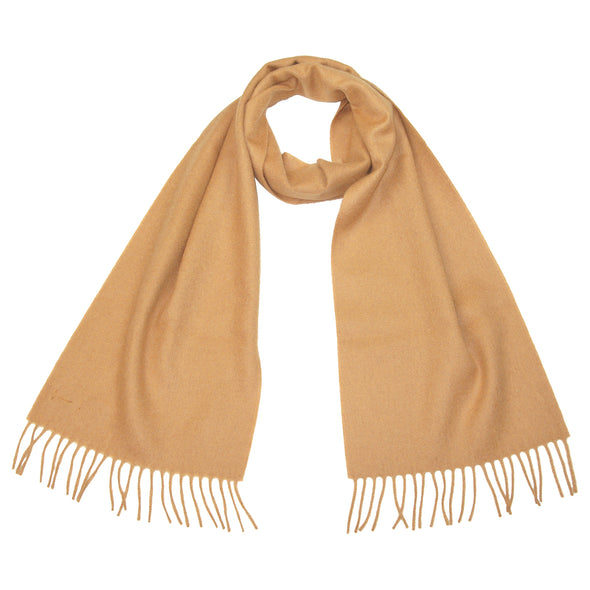 mens pure cashmere scarf brown