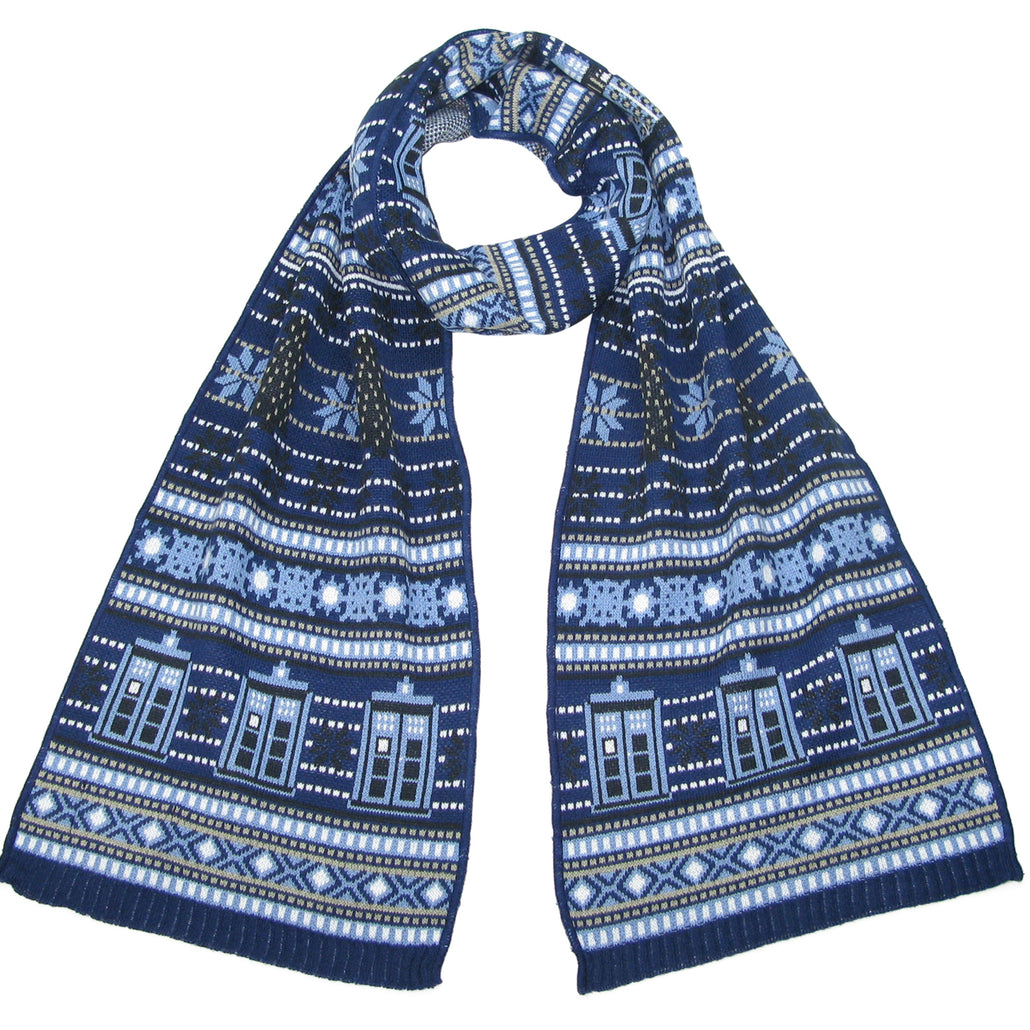 TARDIS and Daleks Christmas Scarf - Official BBC Doctor Who Scarf