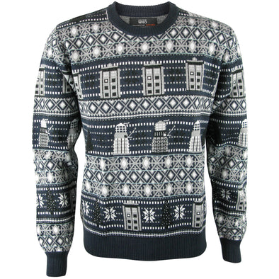 Doctor Who Knitted Christmas Jumper - Dr Who Sweater Gifts