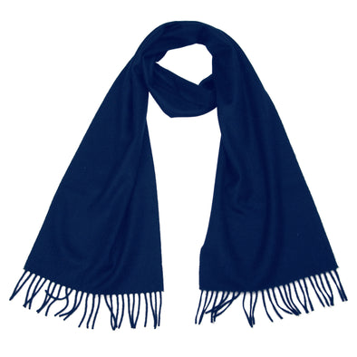 cashmere scarf navy blue
