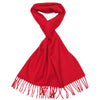 Cashmere Scarf Red for Women