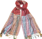 Women's Red Paisley Scarf