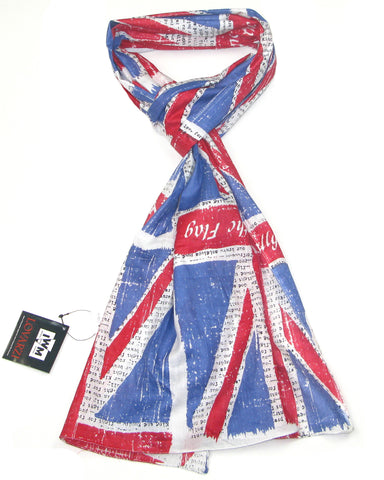 "Union Jack Scarf - Official IWM Union Jack Scarf with ""Rally round the flag"" and other slogans"