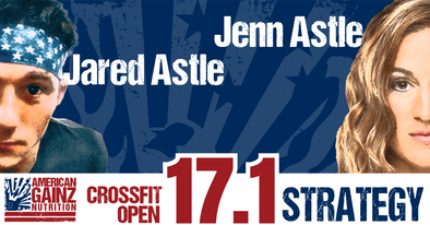 Crossfit Open 17.1 Strategy - Written by Jenn & Jared Astle