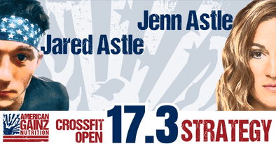 Crossfit Open 17.3 Strategy - Written by Jenn & Jared Astle