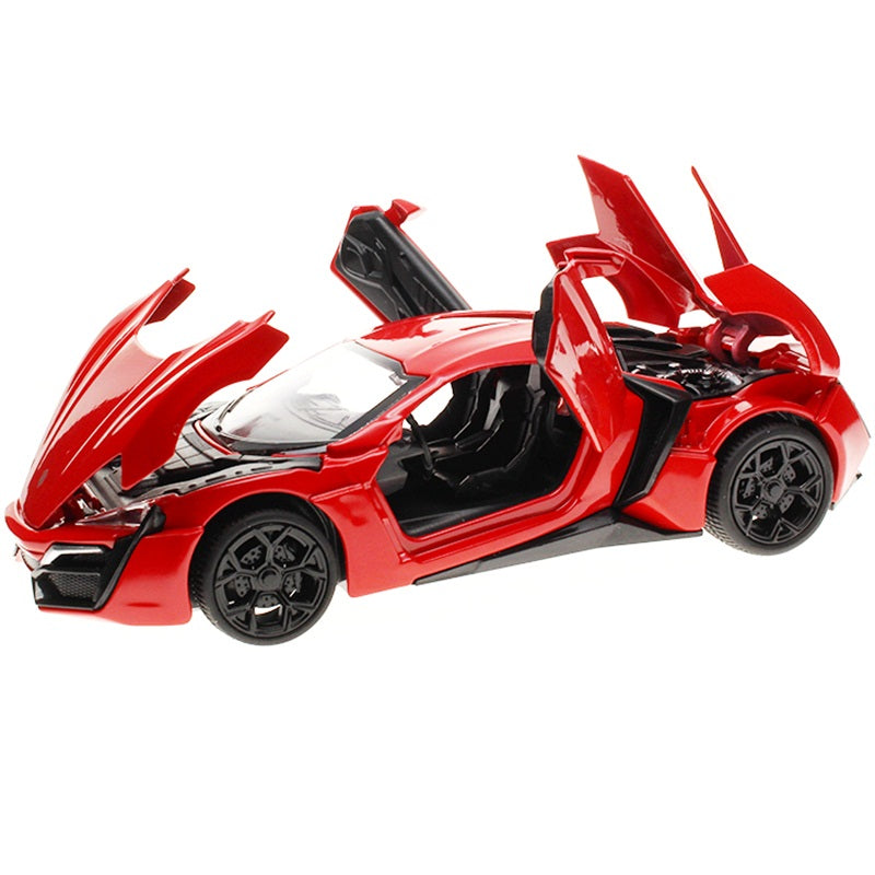 1:32 kids toys Fast & Furious 7 Lykan Hypersport Mini metal toy cars model pull back car miniatures gifts for boys children