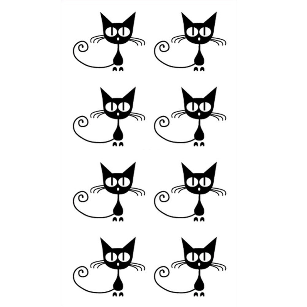 1 PC New Fashion Cat Shaped Tattoo Stickers Cute Tattoo Stickers For Men And Women Drop Shipping