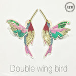 1 Pair 3D Paillette Sequin Embroidery Birds Patch Applique Sew On Clothes Shirt Docarate Accessory Patchwork Diy ZC03