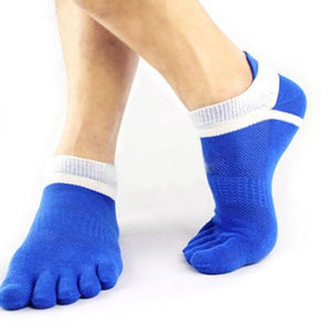 1 Pair Men's Cotton Toe Sock Pure S Five Finger Socks Breathable 6 Colors NEW