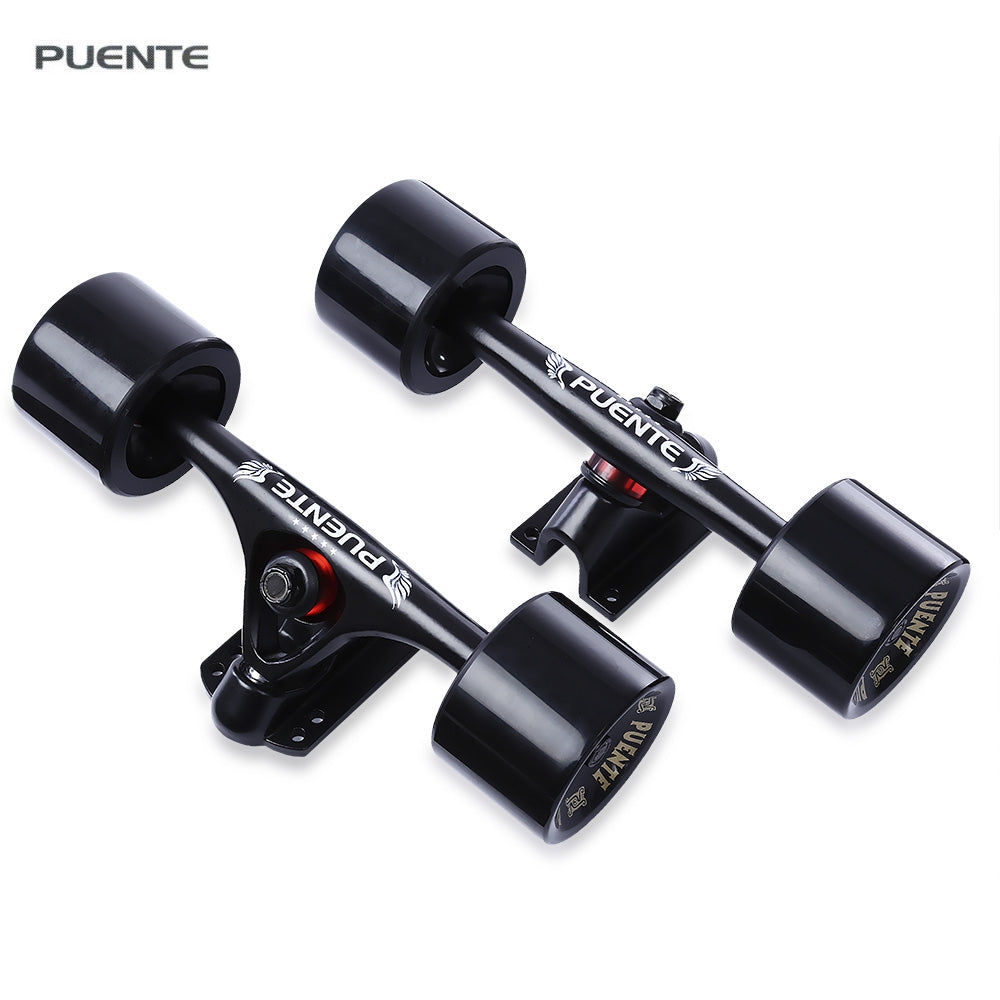 1 Pair PUENTE Skateboard Truck Durable Magnesium Alloy 7 inch Independent Truck With Wheels For Cruiser Skateboard Longboard