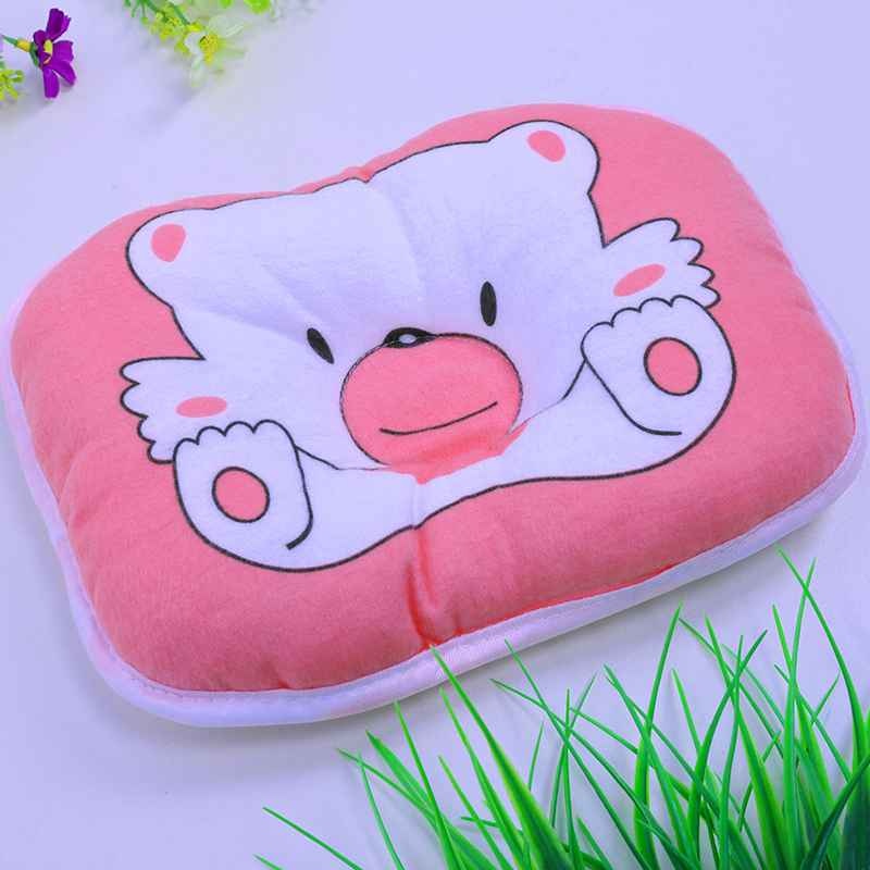 1 Pc High Quality Newborns Infant Soft Neck Support Print Bear Head Shape Baby Therapy Shaping Pillow